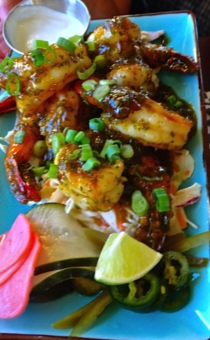 spicy Thai prawns (Allan's photo)