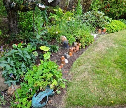 part of Allan's garden