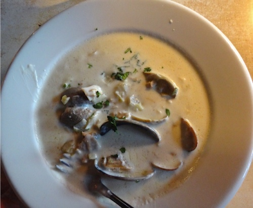 clam chowder (Allan's photo)