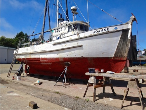 Allan's photo: We learned that Joanne was built in Astoria in the 1940s.