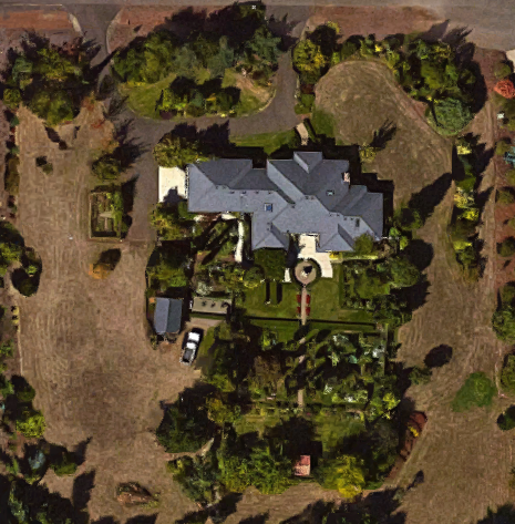 satellite view for orientation in this complex garden