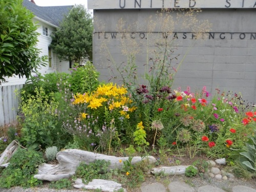 Our volunteer post office garden