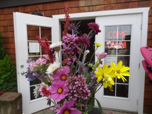 I delivered the weekly bouquet, which I do to show I appreciate the way Salt has enhanced our town.