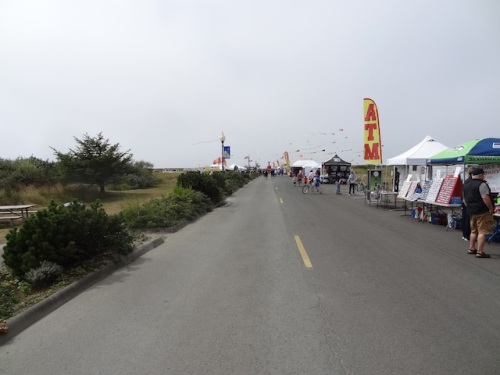 looking west: not as many booths as some years