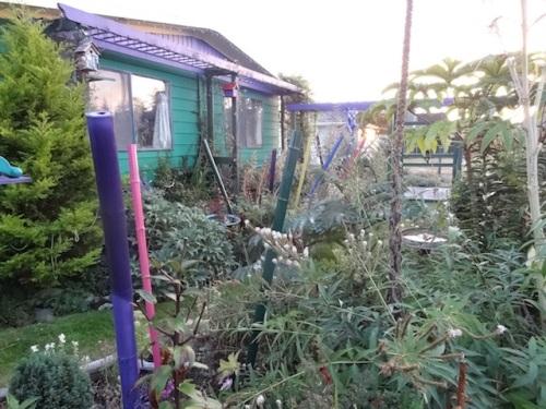 new poles in front garden
