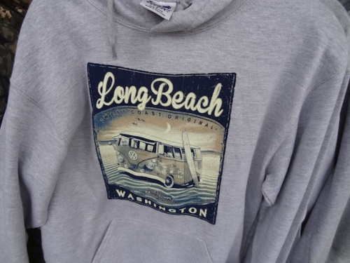 I noticed this sweat shirt that looks just like the WHO-bus from the Ilwaco Slow Drag (coming up on September 9th).
