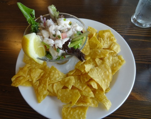 special of the day: ceviche