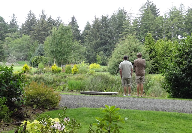 Jim and Sean by the irrigation pond