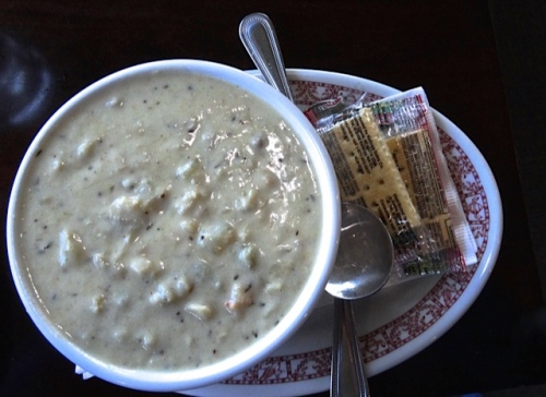 delicious new menu item: Seafood Chowder