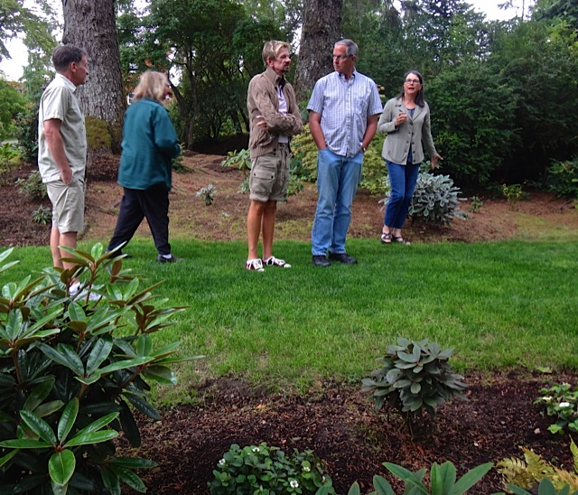 touring the new rhodie plantings