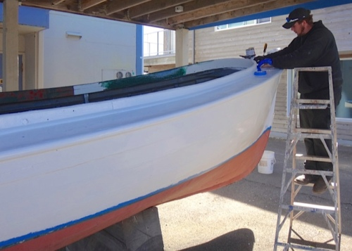 getting a paint job (Allan's photos)