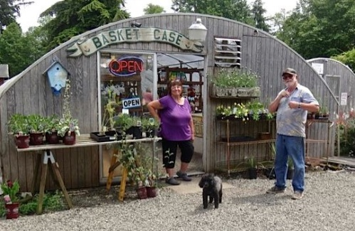 Nancy, Shadow, and Fred at the Basket Case in June of this year.