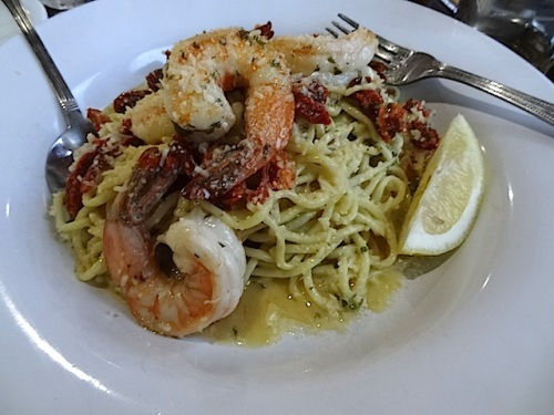 nice soft lemony prawn scampi for my sore mouth