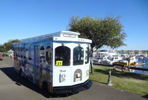 The Long Beach trolley with art by Don Nisbett