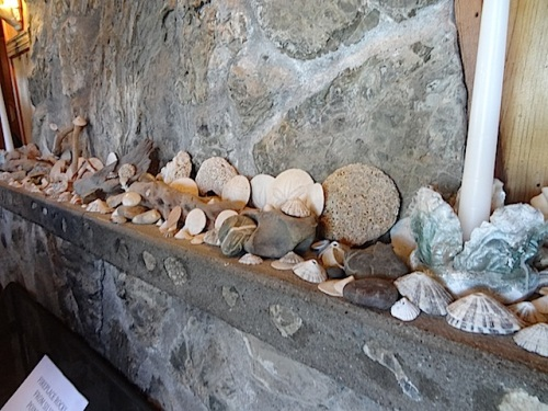 beach collection on the mantel