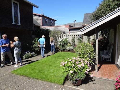 big cottage and garden cottage