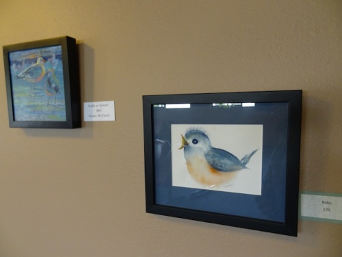 and bird art by local artists.