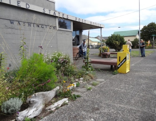 The Ilwaco post office is place for conversation because everyone in town has to come pick up their mail.
