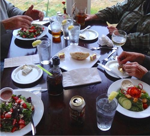 a delicious repast begins (Allan's photo)