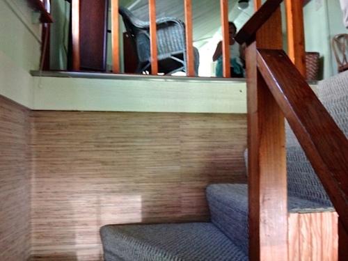 an open railing