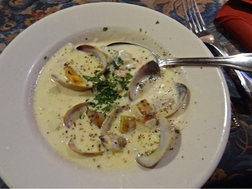 the award winning creamy clam chowder for Allan