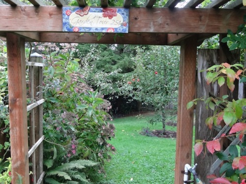 west gate of fenced garden