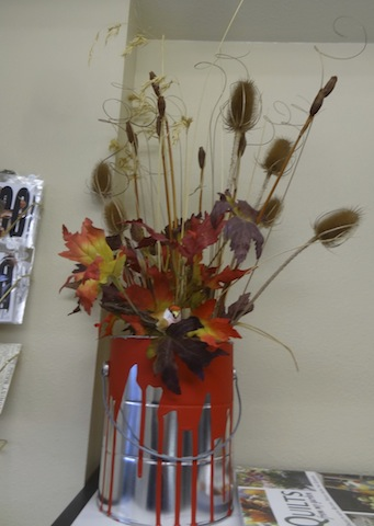 an autumnal bouquet in the museum gift shop
