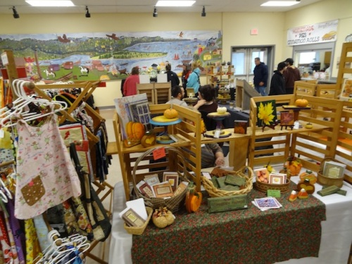 one of two rooms of vendors