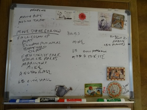 the work board this morning