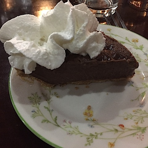 Lynn's peanut butter chocolate pie!