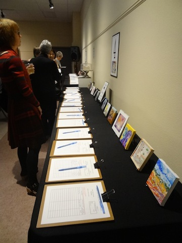 two of four silent auction tables