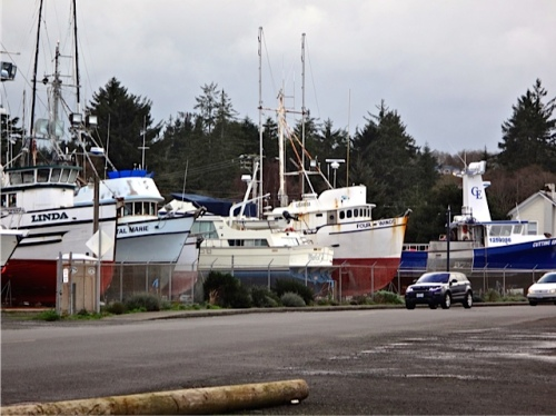 Ilwaco boatyard