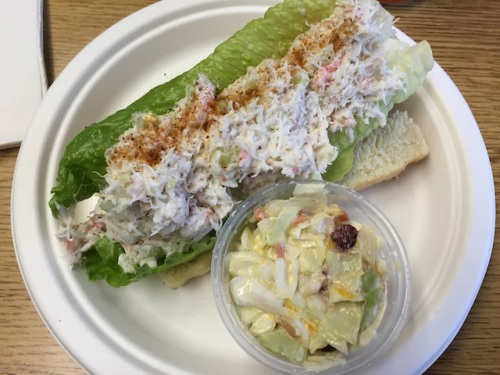 crab roll and coleslaw...we highly recommend!