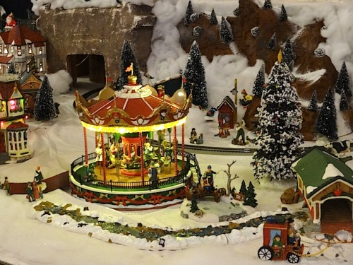 The village carousel keeps going through the holidays.