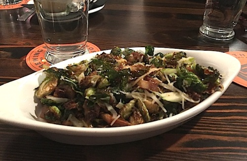 a delicious brussel sprouts dish