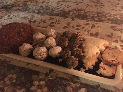 home made cookie assortment including chocolate truffles