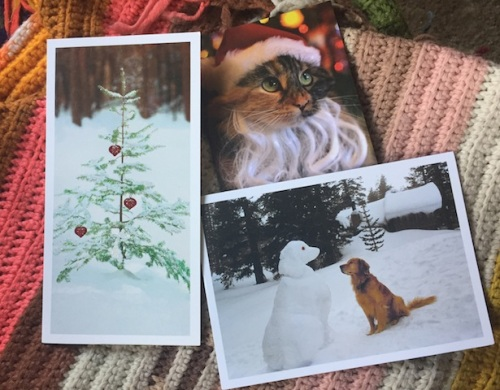three from the pile of Christmas cards